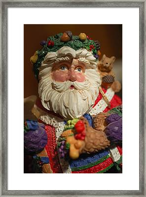 Santa Claus - Antique Ornament - 20 Framed Print by Jill Reger
