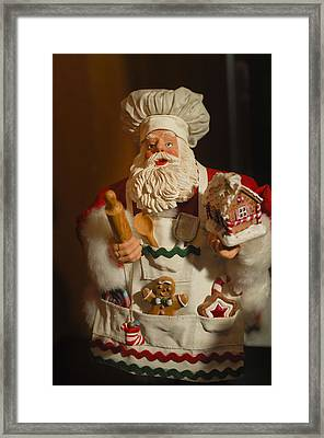 Santa Claus - Antique Ornament - 22 Framed Print by Jill Reger