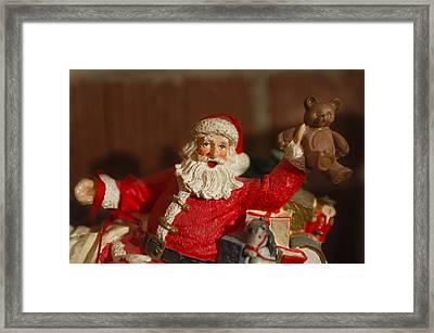 Santa Claus - Antique Ornament - 26 Framed Print by Jill Reger