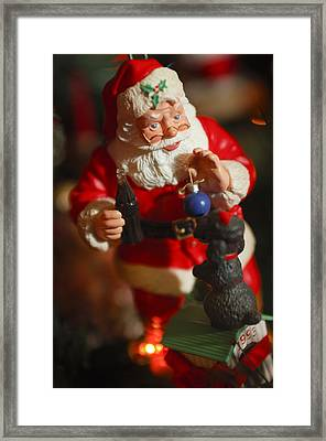 Santa Claus - Antique Ornament - 33 Framed Print by Jill Reger