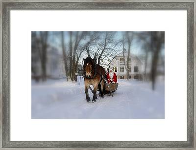 Santa Claus Framed Print by Conny Sjostrom