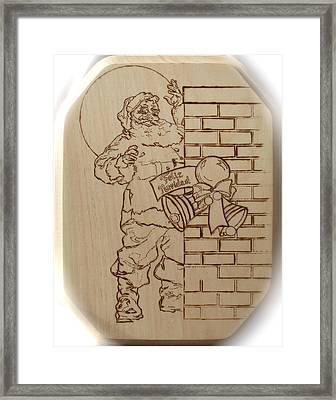 Santa Claus - Feliz Navidad Framed Print by Sean Connolly