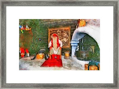 Santa Claus Framed Print by George Rossidis