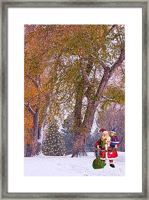 Santa Claus In The Snow Framed Print by James BO  Insogna