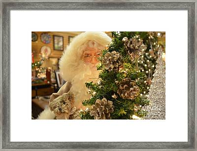 Santa Claus Is Watching You Framed Print by Luther   Fine Art