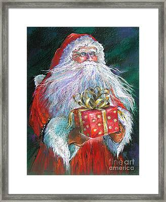 Santa Claus - The Perfect Gift Framed Print by Shelley Schoenherr