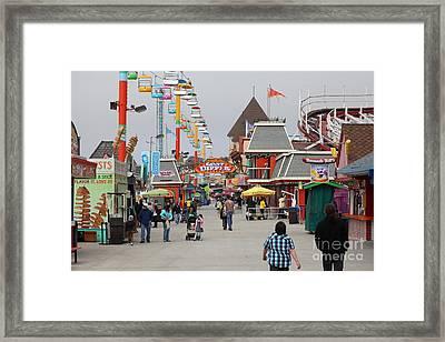 Santa Cruz Beach Boardwalk California 5d23625 Framed Print by Wingsdomain Art and Photography