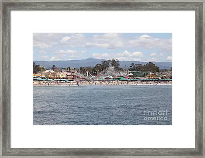 Santa Cruz Beach Boardwalk California 5d23799 Framed Print by Wingsdomain Art and Photography