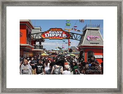 Santa Cruz Beach Boardwalk California 5d23867 Framed Print by Wingsdomain Art and Photography