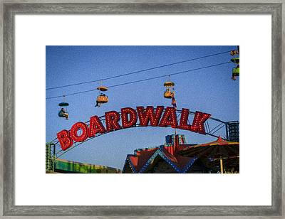 Santa Cruz Boardwalk 1 Framed Print by Scott Campbell