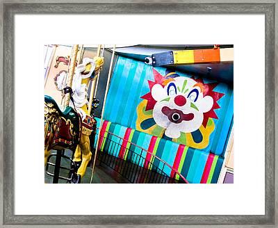 Santa Cruz Boardwalk Carousel Framed Print by Shane Kelly