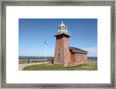 Santa Cruz Lighthouse Surfing Museum California 5d23936 Framed Print by Wingsdomain Art and Photography