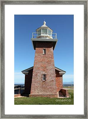 Santa Cruz Lighthouse Surfing Museum California 5d23944 Framed Print by Wingsdomain Art and Photography