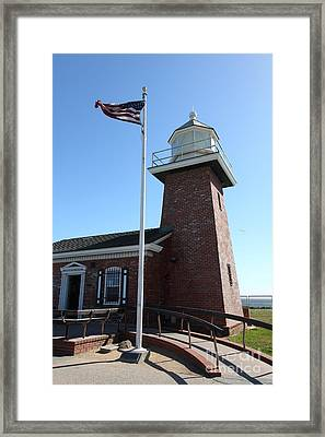 Santa Cruz Lighthouse Surfing Museum California 5d23948 Framed Print by Wingsdomain Art and Photography