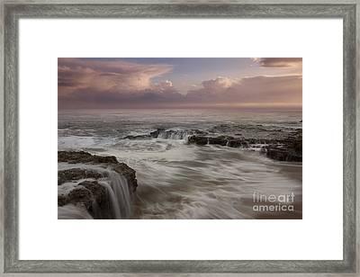 Santa Cruz Sunset Framed Print by Keith Kapple