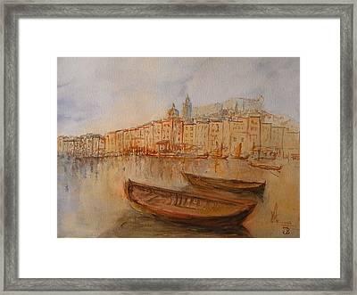 Santa Margherita Ligure Framed Print by Juan  Bosco