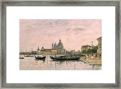 Santa Maria Della Salute And The Dogana Framed Print by Eugene Louis Boudin