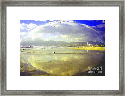 Santa Monica Beach Framed Print by Jerome Stumphauzer