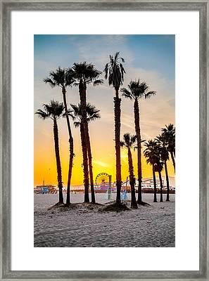 Santa Monica Sunset 2 Framed Print by Az Jackson