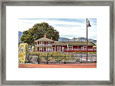 Santa Paula Train Station Framed Print by Jason Abando