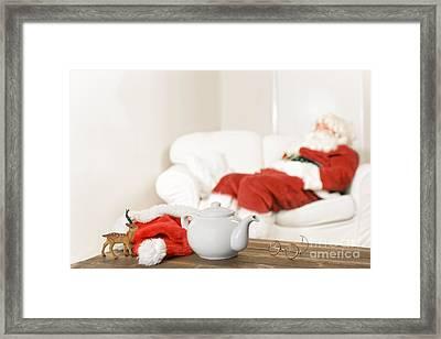 Santa Resting Framed Print by Amanda And Christopher Elwell