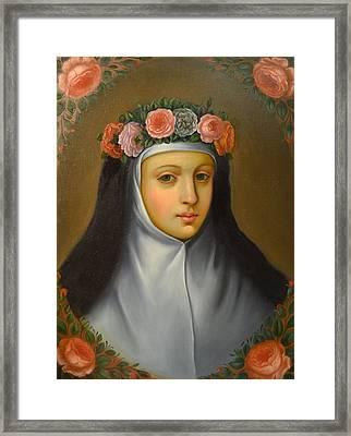 Santa Rosa De Lima Framed Print by Jose antonio Robles