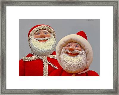 Santa Sr. And Jr. - Quality Time Framed Print by David Wiles
