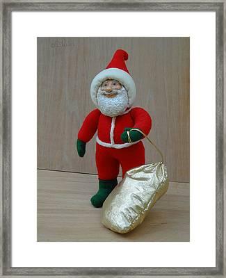 Santa Sr. - Christmas Spirit Framed Print by David Wiles