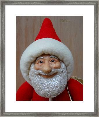 Santa Sr. - Closeup Framed Print by David Wiles