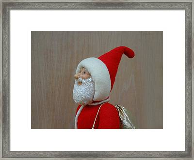 Santa Sr. - Keeping The Faith Framed Print by David Wiles
