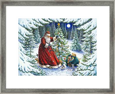 Santa's Little Helpers Framed Print by Lynn Bywaters