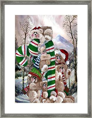 Santa's Little Helpers Framed Print by Ron Chambers