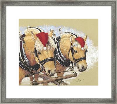 Santa's Little Helpers Framed Print by Tracie Thompson