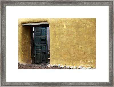 Sante Fe Entryway Framed Print by Bob Christopher