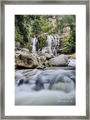 Santo Cristo Falls Framed Print by Oscar Gutierrez