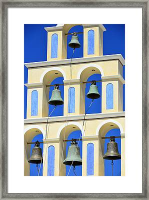 Santorini Bell Tower 2 Framed Print by Jack Daulton
