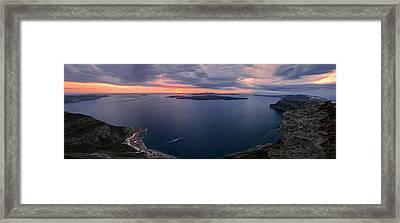 Santorini Caldera Panorama Framed Print by Panagiotis Assonitis