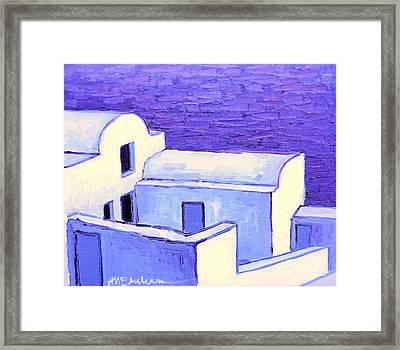 Santorini Houses Framed Print by Ana Maria Edulescu