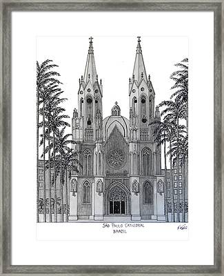 Sao Paulo Cathedral Framed Print by Frederic Kohli