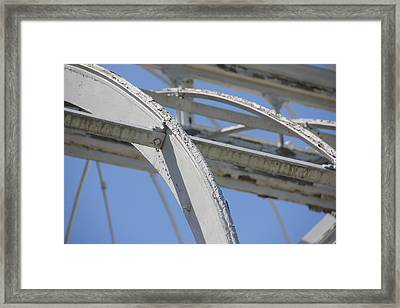 Sapphire 4 Framed Print by Angelique Francis