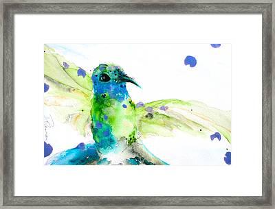 Sapphire Framed Print by Dawn Derman