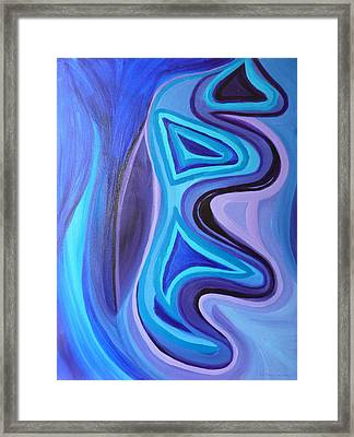 Sapphire Passion - Luminescent Light Framed Print by Daina White