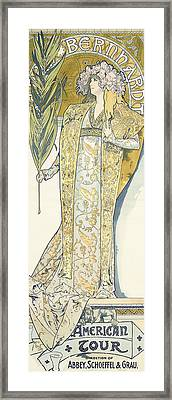 Sarah Bernhardt Framed Print by Alphonse Marie Mucha