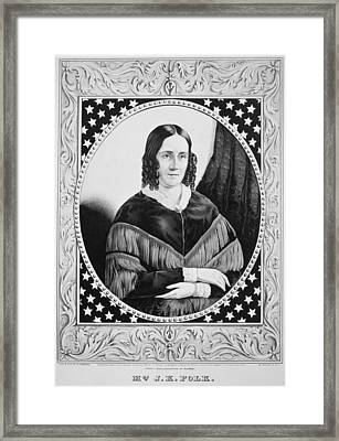 Sarah Childress Polk (1803-1891) Framed Print by Granger