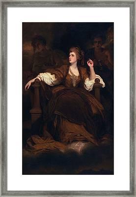 Sarah Siddons As The Tragic Muse Framed Print by Sir Joshua Reynolds