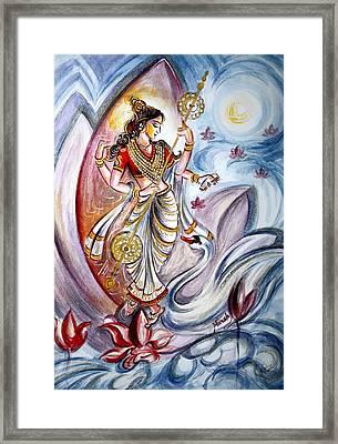 Saraswati Framed Print by Harsh Malik