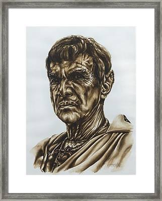 Sarek Star Trek Framed Print by Giulia Riva