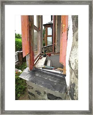 Sash Window Refurbishment Framed Print by Cordelia Molloy