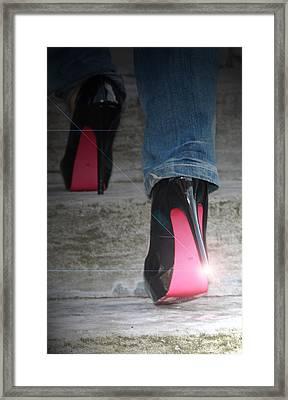 Sassy Stilettos Framed Print by Stephanie Leidolph