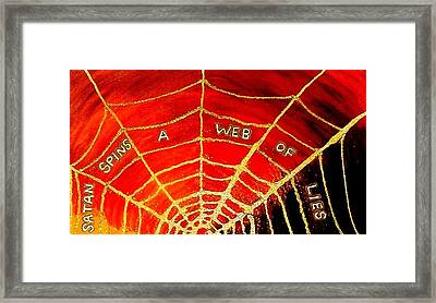 Satan's Web Framed Print by Karen Jane Jones